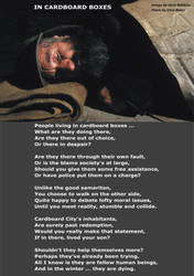In Cardboard Boxes -Poem by Clive Blake by CliveBlake