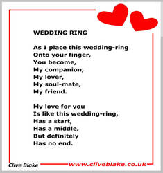 Wedding Poem 10a -Wedding Poetry by Clive Blake by CliveBlake