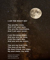 Love Poem -I Am The Night Sky -Love Poetry by CB