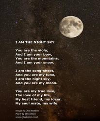 Love Poem -I Am The Night Sky -Love Poetry by CB by CliveBlake