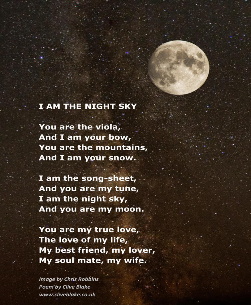 Love Poem -I Am The Night Sky -Love Poetry by CB by