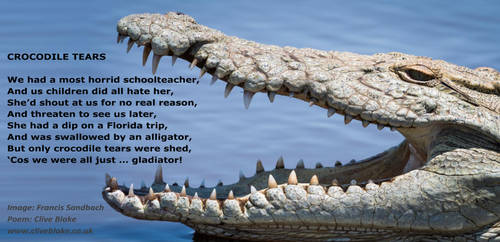 Crocodile Tears -C Blake poem -F Sandbach image by CliveBlake