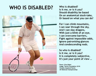 Disabled Poem -Who Is Disabled -Disability Poetry by CliveBlake
