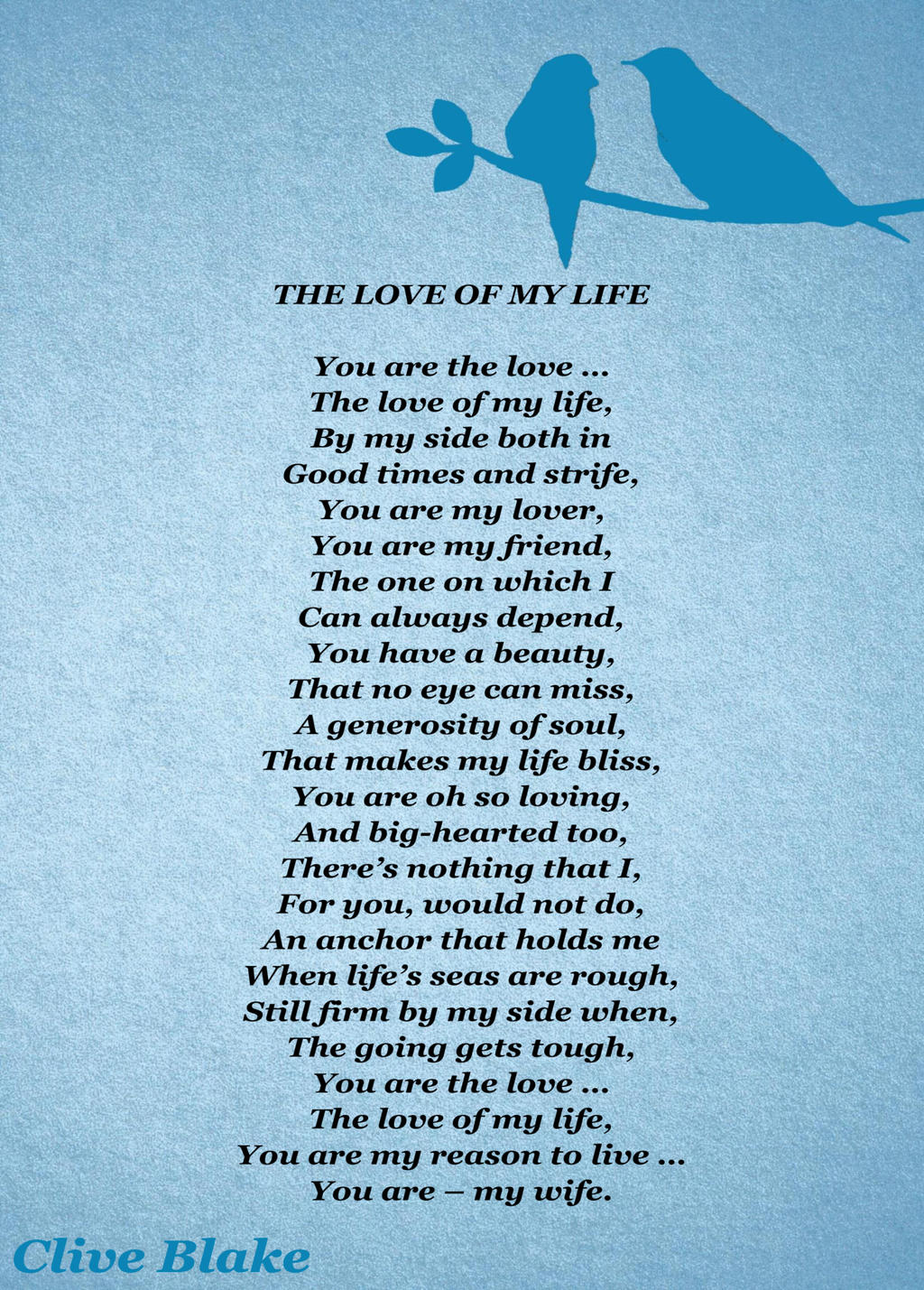 Life poem this is my And Then