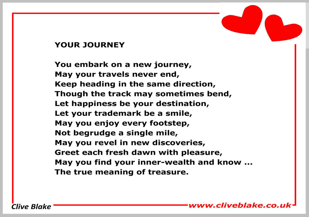Wedding Poem 18a Your Journey Wedding Poetry By Cliveblake