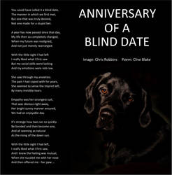 Anniversary Of A Blind Date +bord -Clive Blake poe