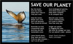 Eco Poem -Save Our Planet +bord -Clive Blake poem