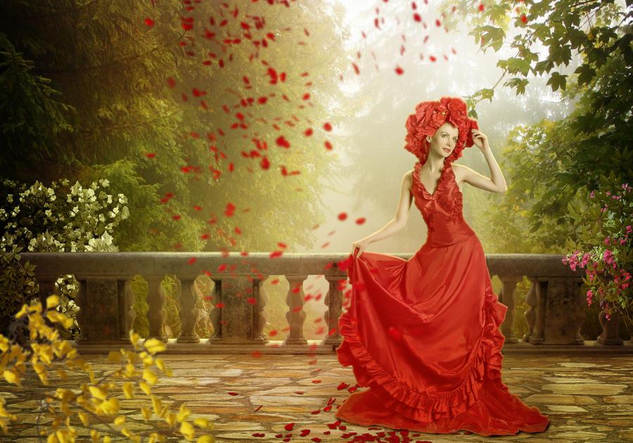 Girl in red by VitaShuba