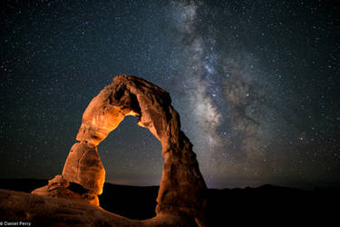 Delicate Arch with Milky Way by JoKeR0720