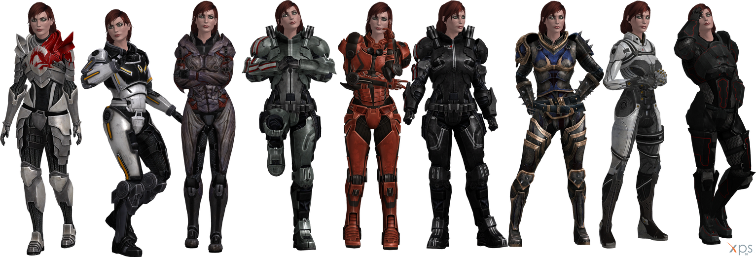 ME3 Jane Shepard Armors Set I (XPS) by SonYume