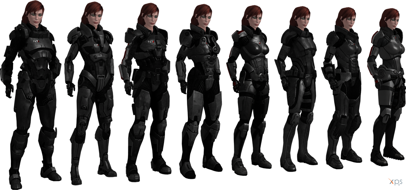 ME3 Jane Shepard Armors Set II (XPS) by SonYume
