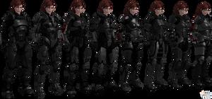 ME3 Jane Shepard Armors Set II (XPS)
