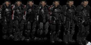ME3 John Shepard Armors Set II (XPS)