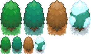 Seasonal Trees by NSora-96