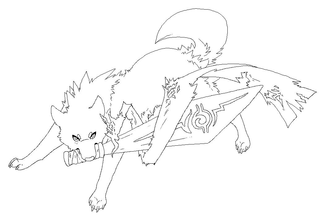 Sword wolf free Lineart by Roneri on DeviantArt
