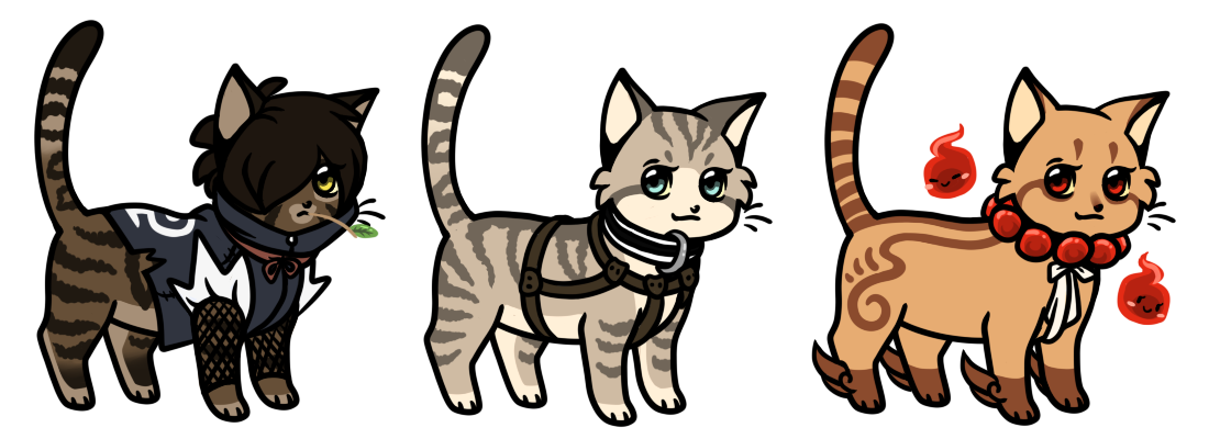 Chibi cats Adoptables 03 CLOSED by Roneri on DeviantArt  Warrior Cat Chibi