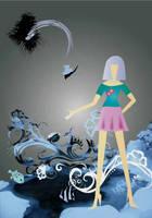 Drop fish in the sea by plain-kady