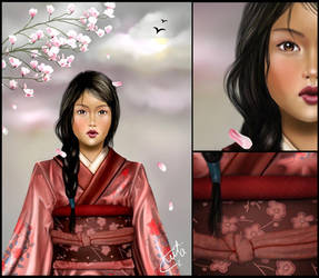 Asian woman by plain-kady