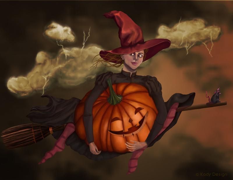 Orange Witch by plain-kady