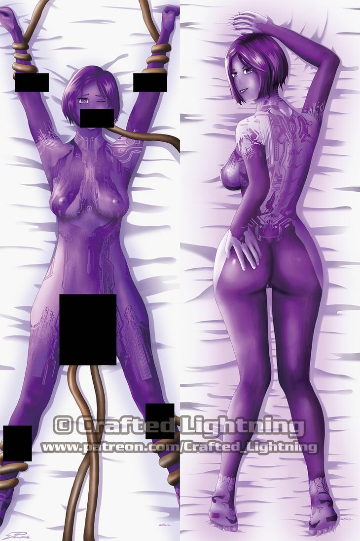 Dakimakura-Halo-Cortana V4 (censored) by CraftedLightning