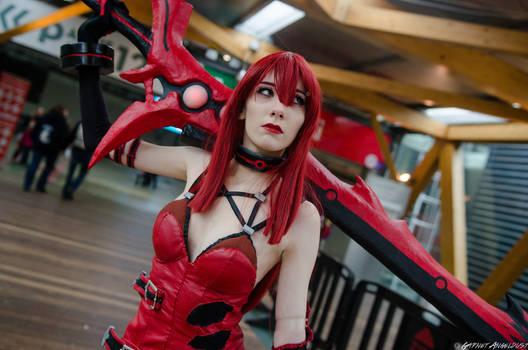 Elesis Crimson Avenger Cosplay #34 DmC - Garnet