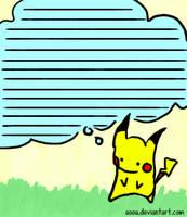 Pikachu Stationary by aoou