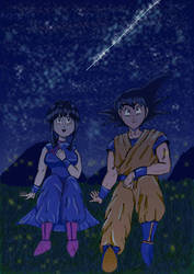 Goku and Chichi 02 Just4fun  by ideiaszumbelina