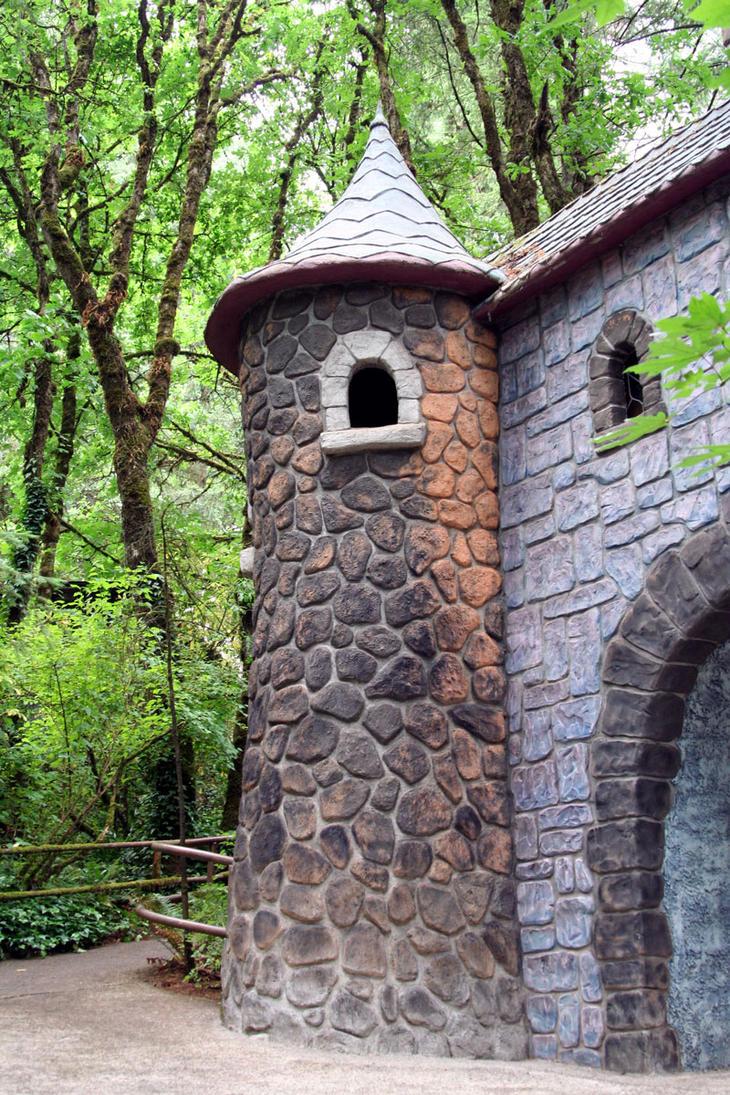Stone Tower by KelbelleStock