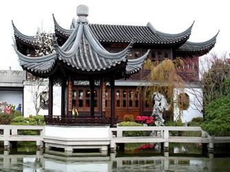 Chinese Garden II by KelbelleStock
