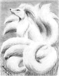 Ninetales sketch by Eclipsis