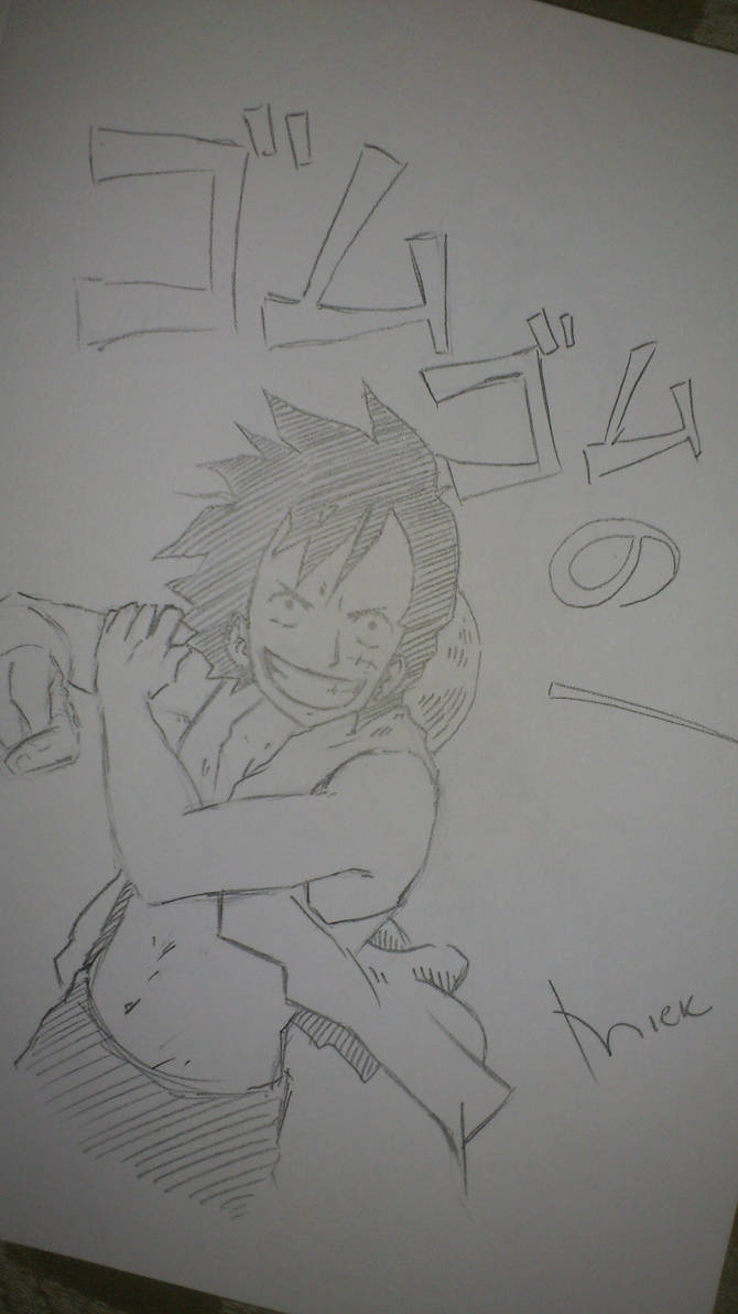 Sketchbook sketches 4 - Luffy