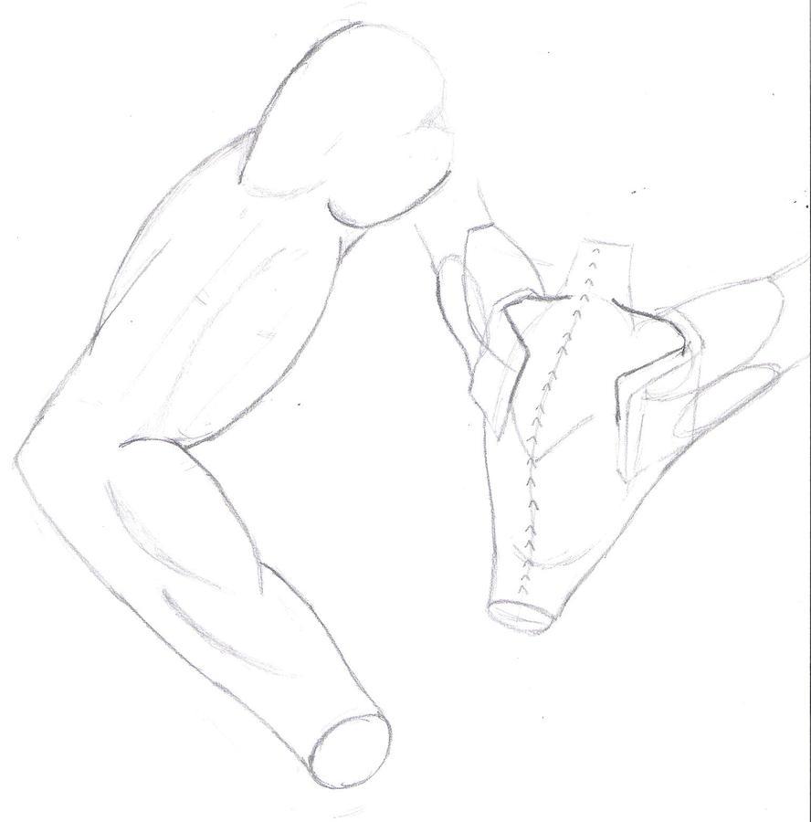 Human female arm drawing
