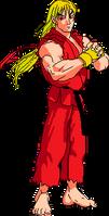 Street Fighter Alpha Ken sprite conversion by legorulez49