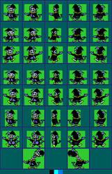 MegaMan 8 Bit Deathmatch - Jevil (Original colors) by legorulez49