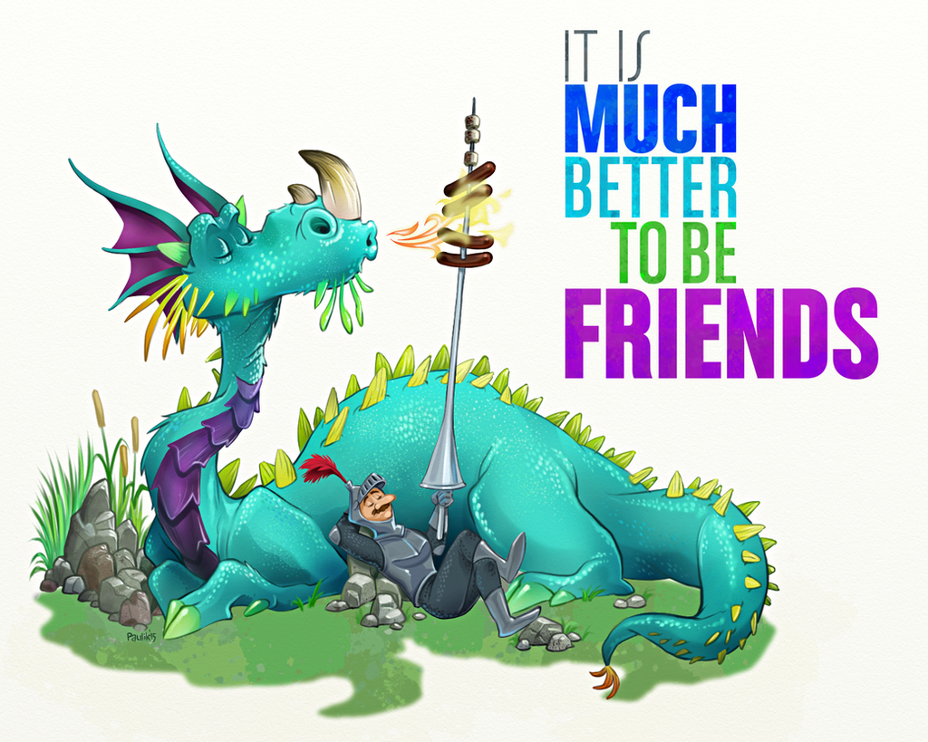 Knight and Dragon Friends by wpilot on DeviantArt