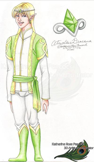 My Characters - Atredius Dracana - 2016 by KatherineRosePeacock