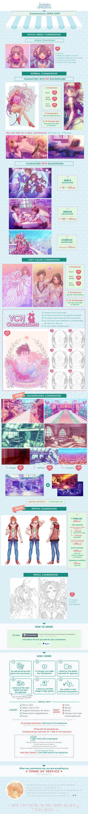 Commissions OPEN! New types available!