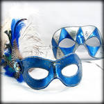 Blue and Silver Mask Pair