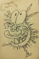 Courage The Cowardly Dog by YesiEguia