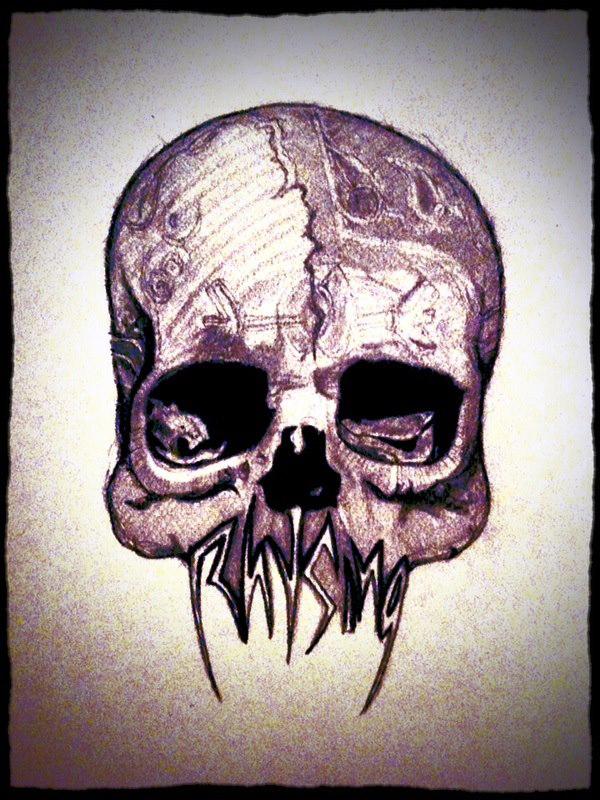 Rhysing Skull by DaryianRhysing