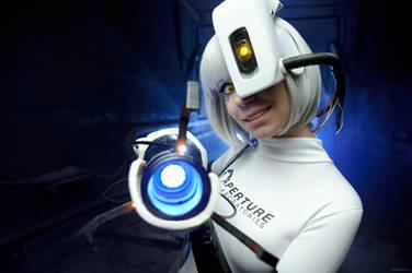 GlaDOS cosplay Portal 2 by onkami
