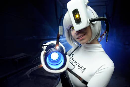 GlaDOS cosplay Portal 2