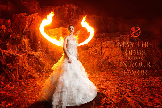 Katniss Everdeen Wedding dress cosplay