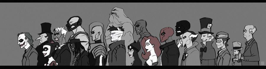 Batman Villains by djzutkovic