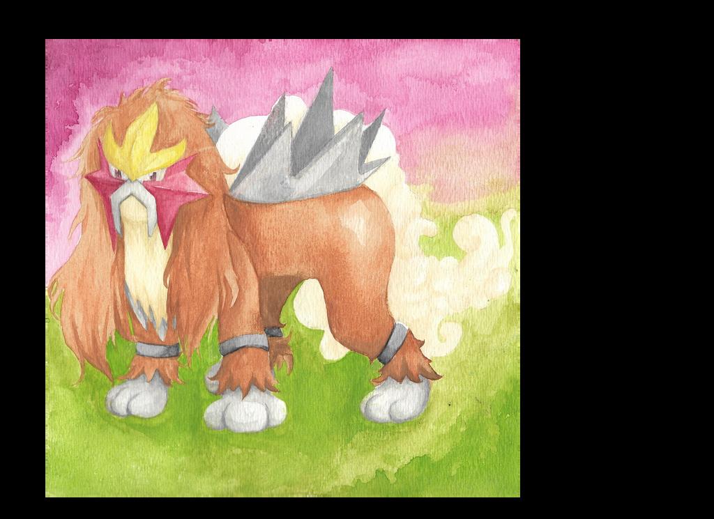 Entei (Pokemon) by DeadxMedic