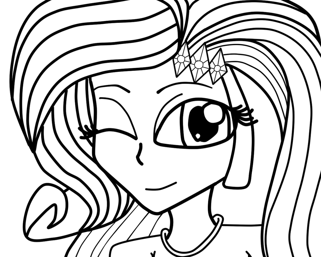 Equestria Girls Rarity By Yvettetheseedrian On Deviantart Rarity Equestria Coloring Pages Printable