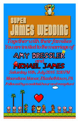 Mario Wedding invite