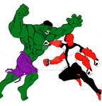 The Hulk Fights Fourarms