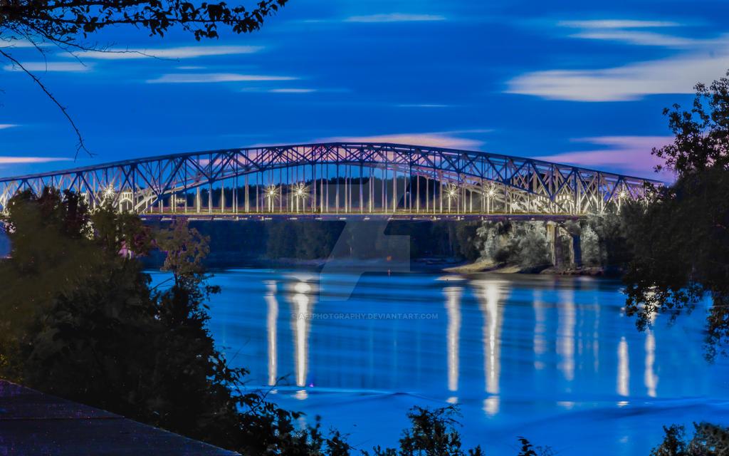 Missouri River Bridge by AF-Photgraphy