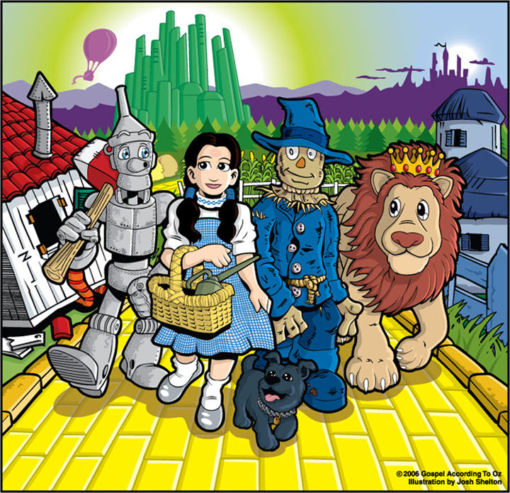 OZ composite illustration by justicefrog